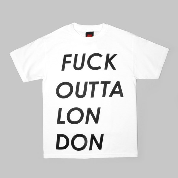 AM AFTER MIDNIGHT LONDON TEE WHITE
