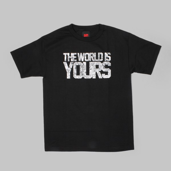 AM AFTER MIDNIGHT THE WORLD TEE BLACK