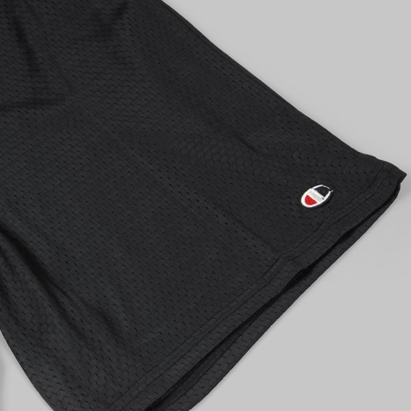 AM X CHAMPION USA MESH SHORTS BLACK