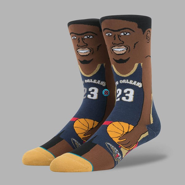STANCE NBA LEGENDS ANTHONY DAVIS SOCKS NAVY