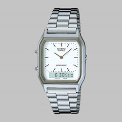 CASIO WATCH AQ-230A-7DMQYES SILVER WHITE