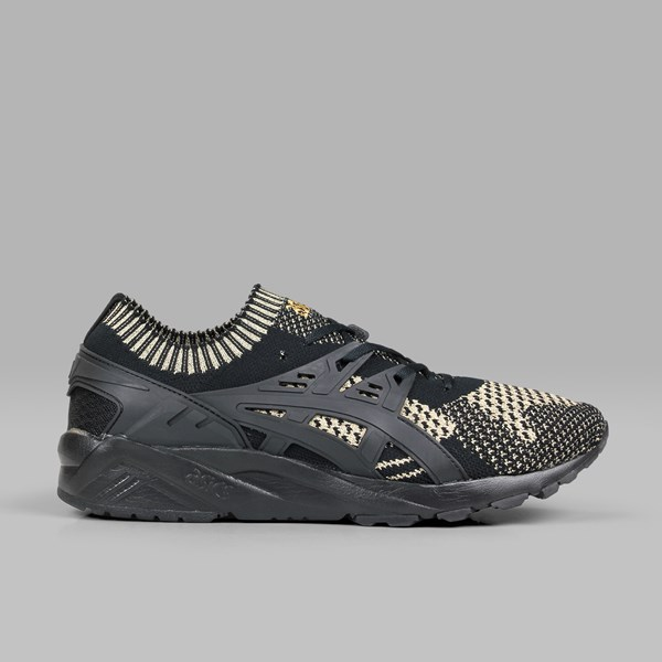 new arrival d463e b55aa ASICS GEL KAYANO TRAINER KNIT BLACK BLACK GOLD ...