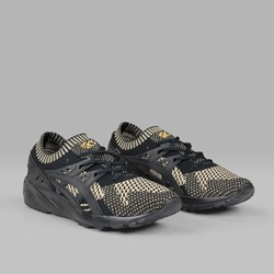 ASICS GEL KAYANO TRAINER KNIT BLACK BLACK GOLD