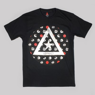 ASPHALT YACHT CLUB DELTA ROSE TEE BLACK