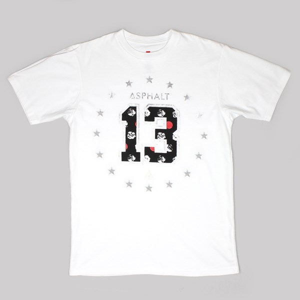 ASPHALT YACHT CLUB POLKA ROSE 13 TEE WHITE
