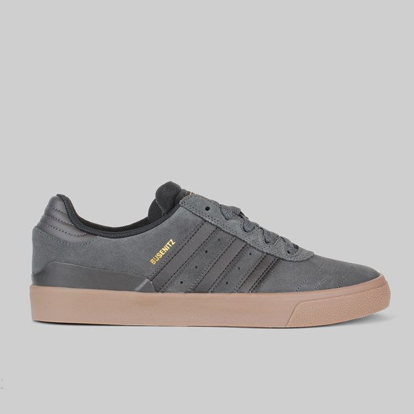 ADIDAS BUSENITZ VULC SOLID GREY CORE BLACK GUM