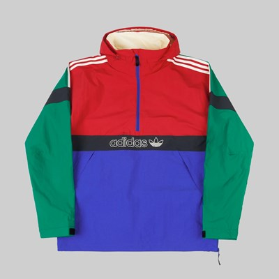 ADIDAS SNOWBREAKER JACKET BOLD GREEN POWER RED