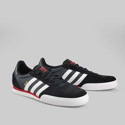 ADIDAS SKATE SILAS SLR TRAINER BLACK/RUNNING WHITE/UNIVERSITY RED