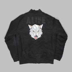 Alife Wolfpack Varsity Jacket Black