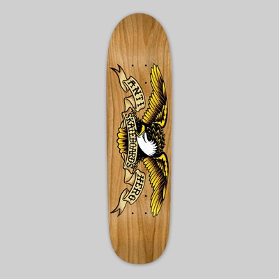 ANTI HERO SHAPED DECK EAGLE AU NATURAL 8.35""