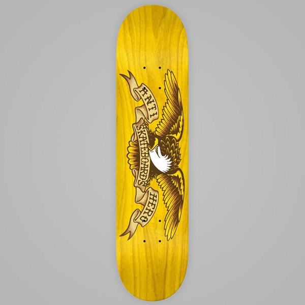 ANTI HERO SKATEBOARDS STAINED EAGLE DECK YELLOW 8""