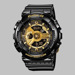 G SHOCK WATCH BA-110-1AER BLACK GOLD