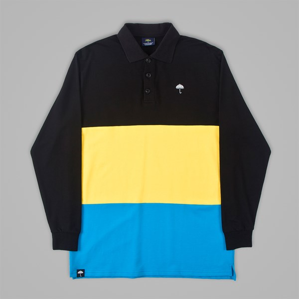 HELAS BAHAMAS LONG SLEEVE POLO BLACK