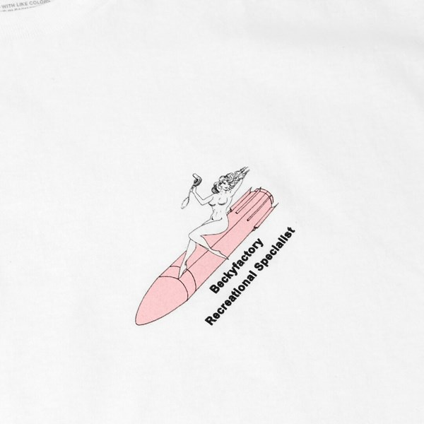 BECKY FACTORY RECREATIONAL SPECIALIST TEE WHITE