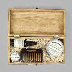 BEDFORDSHIRE BEARD CO. DELUXE GIFT SET DARK PEPPER