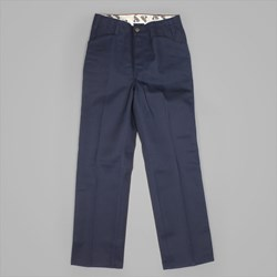BEN DAVIS TRIM FIT TWILL WORK PANTS NAVY