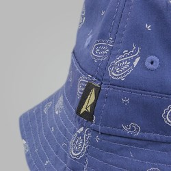 BENNY GOLD CLOUD PAISLEY BUCKET HAT NAVY