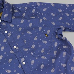 BENNY GOLD CLOUD PAISLEY LS SHIRT NAVY
