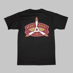 BENNY GOLD PROPELLER TEE BLACK