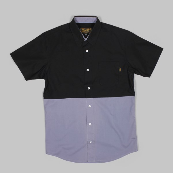 BENNYGOLD RETREAT 2TONE SHIRT CHARCOAL
