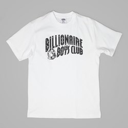 BILLIONAIRE BOYS CLUB ARCH LOGO REFLECTIVE TEE WHITE