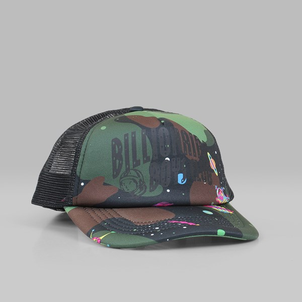 BILLIONAIRE BOYS CLUB CAMO ARCH TRUCKER CAP BLACK