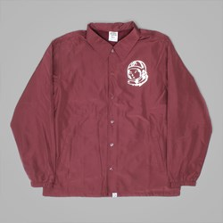 BILLIONAIRE BOYS CLUB CLASSIC LOGO COACH JACKET BURGUNDY