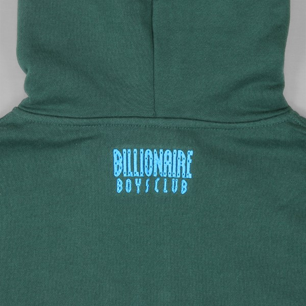 BILLIONAIRE BOYS CLUB HELMET 1/4 ZIP PO HOOD GREEN