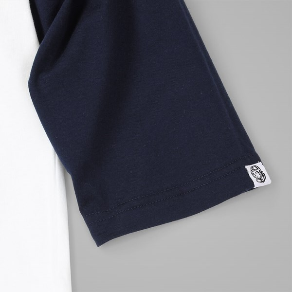BILLIONAIRE BOYS CLUB SCRIPT LOGO RAGLAN WHITE