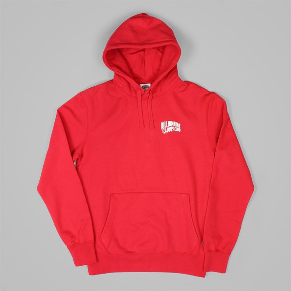 BILLIONAIRE BOYS CLUB SMALL ARCH LOGO HOOD RED