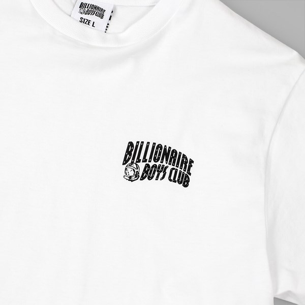 BILLIONAIRE BOYS CLUB SMALL ARCH LOGO TEE WHITE