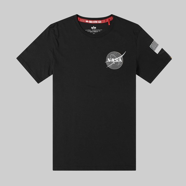 ALPHA INDUSTRIES SPACE SHUTTLE SS T-SHIRT BLACK