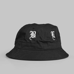 BLACK SCALE OLD ENGLISH BUCKET HAT BLACK
