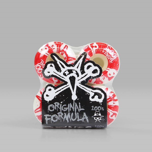 BONES WHEELS OG 100'S 10 V4 WHITE 51MM
