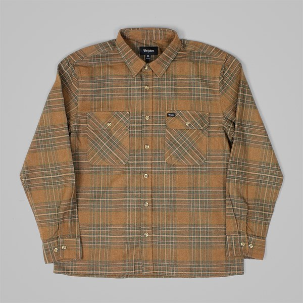 BRIXTON ARCHIE LS SHIRT COPPER SHALE BROWN