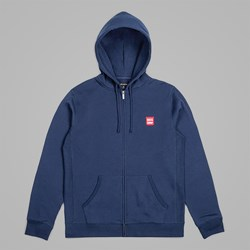 BRIXTON BERING ZIP HOOD FLEECE NAVY