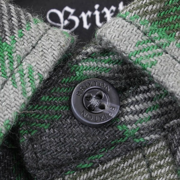 BRIXTON BOWERY LS FLANNEL SHIRT FOREST GREEN