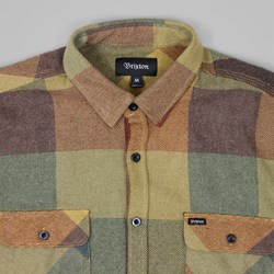 BRIXTON BOWERY LS SHIRT RUST COPPER