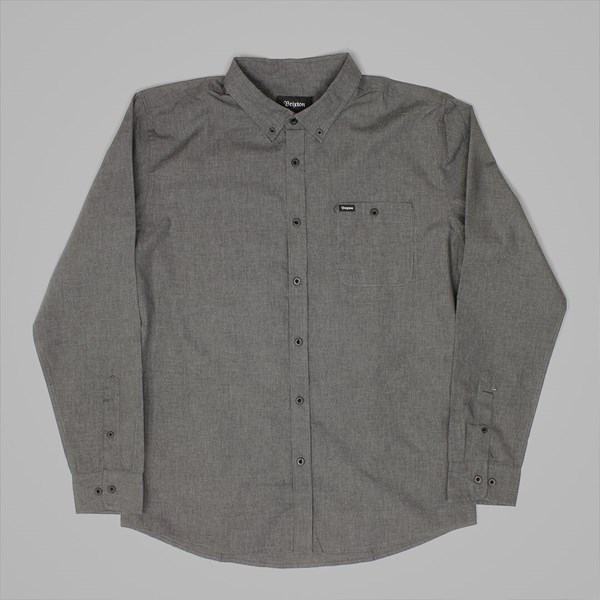 BRIXTON CENTRAL SS SHIRT HEATHER BLACK