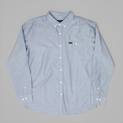 BRIXTON CENTRAL SS SHIRT LIGHT BLUE CHAMBRAY