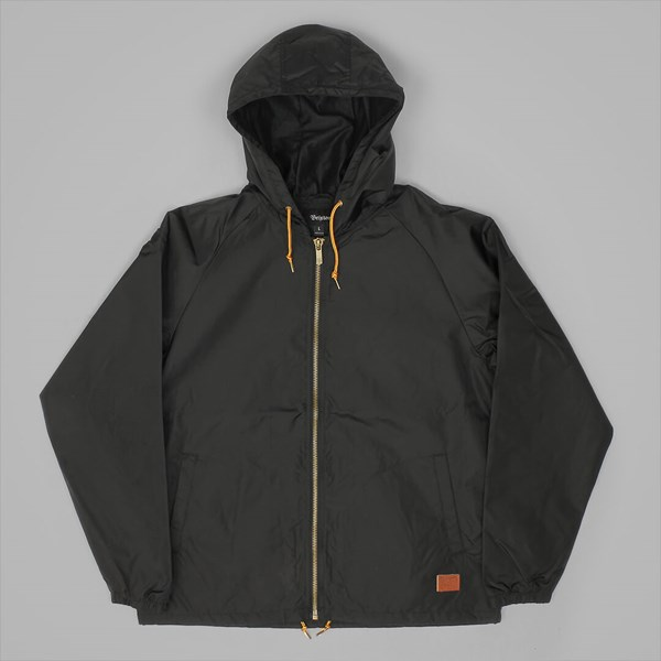 BRIXTON CLAXTON WINDBREAKER JACKET BLACK