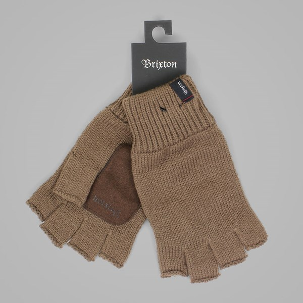 BRIXTON CUTTER FINGERLESS GLOVE BROWN