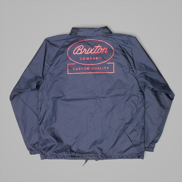 BRIXTON DALE WINDBREAKER JACKET LIGHT NAVY