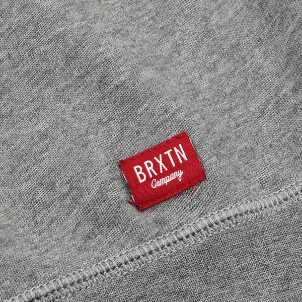 BRIXTON DAMO CREWNECK SWEATSHIRT CHARCOAL HEATHER