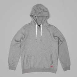 BRIXTON DAMO HOOD FLEECE CHARCOAL HEATHER
