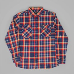 BRIXTON GRADY LS FLANNEL SHIRT DEEP BLUE