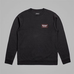 BRIXTON PALMER CREW NECK FLEECE BLACK