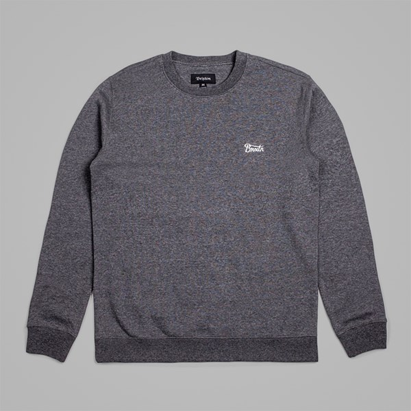 BRIXTON POTRERO CREW FLEECE CHARCOAL
