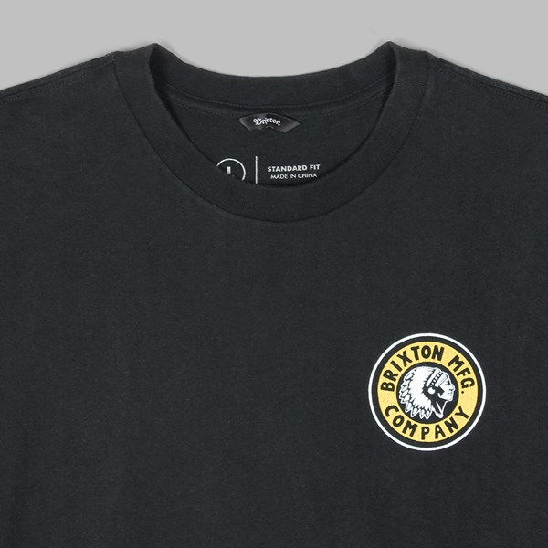 BRIXTON RIVAL II SS T-SHIRT BLACK YELLOW
