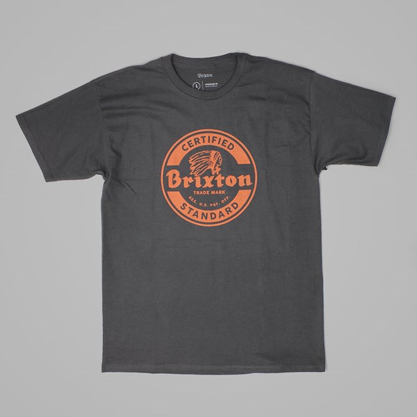 BRIXTON SOTO T SHIRT WASHED BLACK